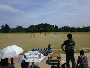 本日行われた、中総体、サッカーの決勝戦の様子です。