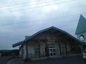 今日の丸光製麺/一関工場の上空です。どんよりした曇り空で湿気を帯びた風が吹いていました。